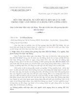 BÀI THU HOẠCH 4 NĂM THỰC HIỆN CUỘC VẬN ĐỘNG HỌC TẬP VÀ LÀM THEO TẤM GƯƠNG ĐẠO ĐỨC HỒ CHÍ MINH