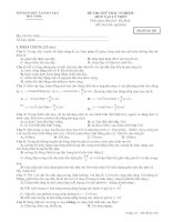 Đề thi đại học môn vật lý mã đề 103