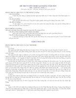 Đề và Gợi ý môn Sử khối C (Cao đẳng 2009)