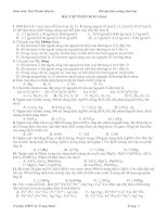 Bài tập Kim loại(LTĐH-Có Đáp án)