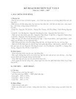 Kế hoạch giảng dạy ngữ văn 9