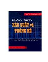 Giáo trình xác suất thống kê - Phạm Xuân Kiều