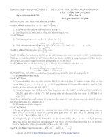 ĐỀ KHẢO SÁT CHẤT LƯỢNG LUYỆN THI ĐẠI HỌC LẦN 1 - NĂM HỌC 2012-2013 Môn TOÁN TRƯỜNG THPT THUẬN THÀNH SÔ 1