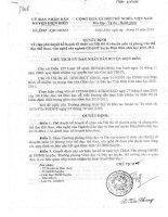 QĐ 3740 Phê duyệt  kế hoạch tổ  chức các Hội thi, PT TDTT, VN