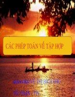 bài 3; Các phép toán tap hop