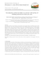 Investigation of thermal effect on exterior wall surface of building material at urban city area