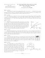 Đề thi và đáp án HSG Tỉnh môn Lý lớp 9 Phú Yên
