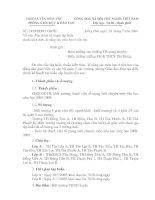 145/PGDĐT-GDTH ngày 28/7/2009 V/v điều chỉnh kế hoạch tập huấn Chuẩn kiến thức- Kĩ năng các môn học cấp tiểu học