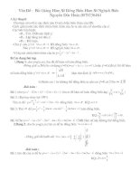 hàm số và vấn đề liên quan