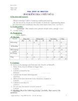 E8 Test No 1 Term I(09-10) có ma trận + ĐA