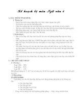 Kê hoach giảng dạy ngữ văn 6
