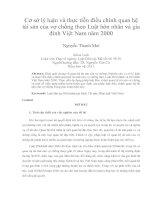 Cơ sở lý luận và thực tiễn điều chỉnh quan hệ  tài sản của vợ chồng theo Luật hôn nhân và gia  đình Việt Nam năm 2000