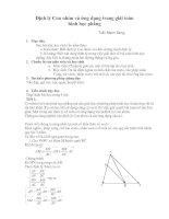 Định lý Con nhím và ứng dụng trong giải toán HHP