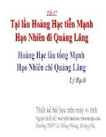 Tiết 57: Tại lầu Hoàng Hạc tiễn Mạnh Hạo Nhiên đi Quảng Lăng