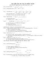 tài liệu ôn thi vào 10 môn toán