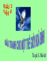Đấu tranh cho một thế giới hòa bình (tiết 6,7)