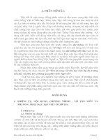 SKKN RÈN CHỮ VIẾT CHO HỌC SINH LỚP 3