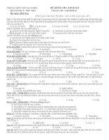 LTDH - chuyen de CACBOHIDRAT