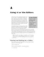 Using vi or Vim Editors