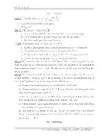 20 đề thi chọn lọc vào lớp 10