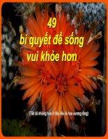 49 bí quyết để sống vui khỏe