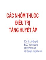 cac thuoc dieu tri cao huyet ap