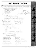 Các kiến thức về thể tích khối đa diện 2