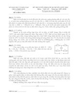 Đề thi và đáp án thi vào lớp 10 chuyên Lý - Quốc Học Huế  2007 - 2008