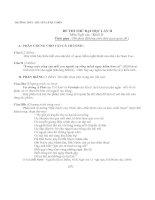 ĐỀ THI THỬ ĐẠI HỌC NĂM 2012-2013 (LẦN 1) Môn: Tiếng Anh; Khối A1 và D1