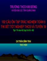 200 CÂU TRẮC NGHIẸM TOÁN 9- HAY- 4/ 5/ 2010