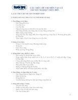 Cấu trúc đề thi môn vật lý thi tốt nghiệp THPT 2009