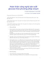 Hoàn thiện công nghệ sản xuất glucoza theo phương pháp enzym