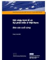 Hội nhập kinh tế và sự phát triển ở Việt Nam