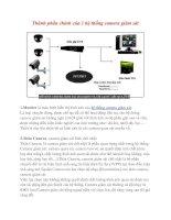 Thành phần chính của 1 hệ thống camera giám sát