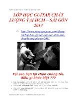 Địa điểm dạy ghita tốt giá rẻ 2013
