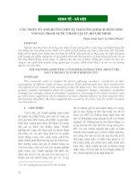 Các nhân tố ảnh hưởng đến sự hài lòng khách hàng đối với sp nước chấm tại Tp.HCM