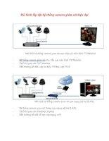 Mô hình lắp đặt hệ thống camera giám sát hiện đại