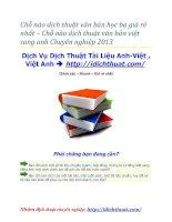 Chỗ nào dịch thuật văn bản học bạ giá rẻ nhất