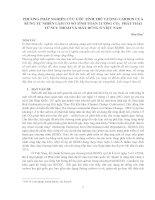 PHƯƠNG PHÁP NGHIÊN CỨU ƯỚC TÍNH TRỮ LƯỢNG CARBON CỦA  RỪNG TỰ NHIÊN LÀM CƠ SỞ TÍNH TOÁN LƯỢNG CO2 PHÁT THẢI  TỪ SUY THOÁI VÀ MẤT RỪNG Ở VIỆT NAM