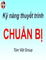Kỹ Năng Thuyết Trình Chuẩn Bị- Tâm Việt Group