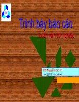 cach Trinh bay luan van