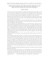 MỘT SỐ KINH NGHIỆM LỒNG GHÉP GIÁO DỤC GIỚI TÍNH VÀ SỨC KHỎE SINH SẢN TRONG GIẢNG DẠY MÔN SINH HỌC 8