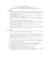 Ngành đào tạo ngữ văn (ban hành kèm QĐ 559/QĐ ngày 05/4/2011)