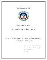Tỷ giá hối đoái và vấn đề quản lý tỷ giá hối đoái ở Việt Nam hiện nay
