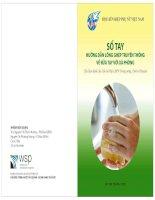 Sổ tay hướng dẫn lồng ghép truyền thông về rửa tay với xà phòng