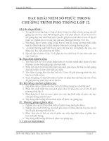 Dạy khái niệm số phức trong chương trình phổ thông lớp 12