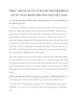 THỰC TRẠNG QUẢN LÝ RỦI RO THANH KHOẢN Ở CÁC NGÂN HÀNG THƯƠNG MẠI VIỆT NAMx