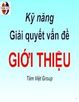 Kỹ Năng Giải Quyết Vấn Đề - Tâm Việt Group
