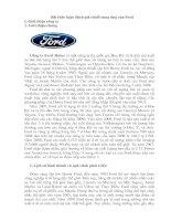 chuỗi cung ứng của Ford