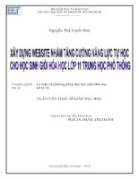 luận văn thạc sĩ giáo dục học Nguyễn Thị Tuyết Hoa